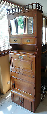 "MAHOGANY WASH CABINET from ""NORMANDIE"" ocean liner"
