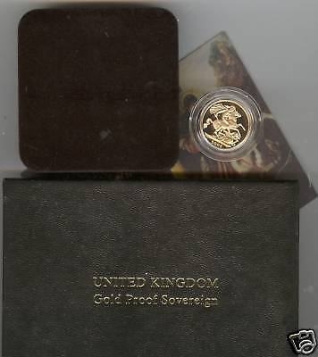 Boxed 2006 Proof Gold Full Sovereign With Certificate