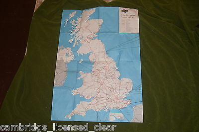 1987-88 British Rail Passenger Network map wall poster A1 sized nice condition
