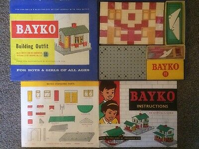 BAYKO 1950s SET 11 SUPERB Unused Still Cellophane Wrapped In Box