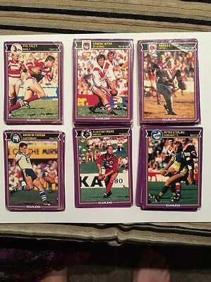 1987 scanlens rugby league cards
