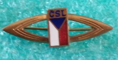 Czechoslovak Communistic Political Party Old Pin Badge