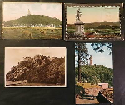 STIRLING Lot of 4 Postcards - Bruce & Wallace Monuments, Castle