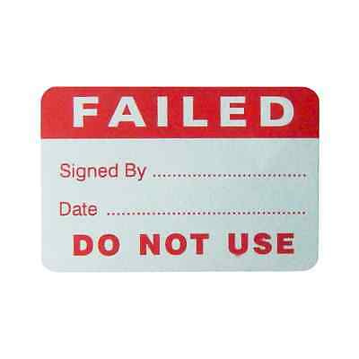 PAT Testing Failed Paper Labels - Red [500] **CLEARANCE**