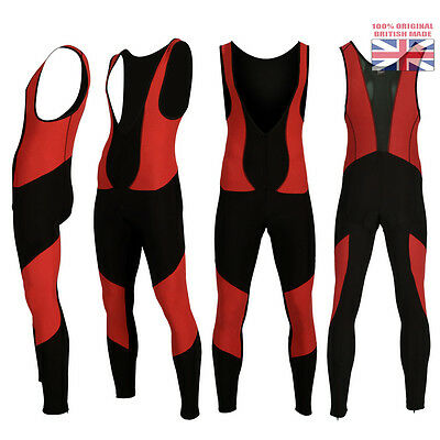Mens Cycling Super Roubaix Bib Tights Winter Thermal Long Legging Padded Trouser