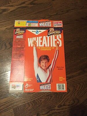 Vintage 1985 General Mills Mary Lou Retton Wheaties Cereal Box