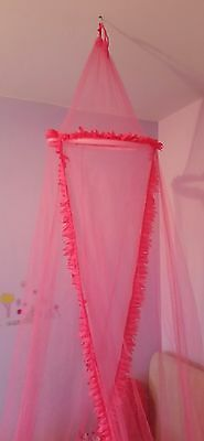 Girls Pink Princess Bedroom Canopy