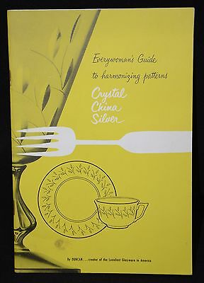 Duncan Glassware Crystal 1952 Paperback Catalog and Price List