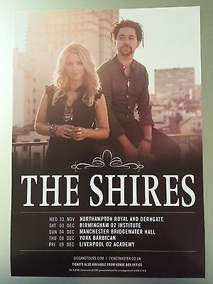 THE SHIRES - 1 x 2016 MY UNIVERSE UK TOUR FLYER (SIZE A5)