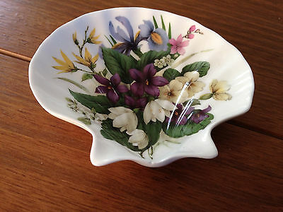 Royal Stafford Bone China Shell-Shaped Floral Dish- for Victoria's Secret