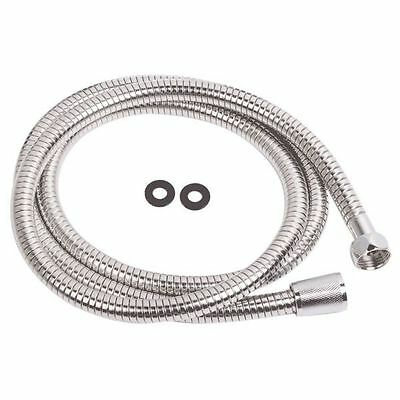 1.5M TO 2.5M CHROME SHOWER BATH HOSE Flexible Stainless Steel Replacement Pipe