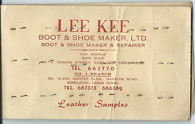 HONG KONG LEE KEE BOOTS AND SHOES VINTAGE  BUSINESS CARD with samples