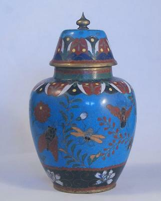 Stunning Quality Antique 19Th Centuty Cloisonne Jar/ Vase & Cover