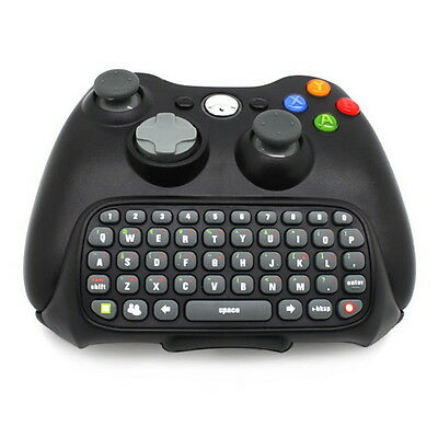 Black Wireless Controller Messenger Game Keyboard For XBOX 360 New AO