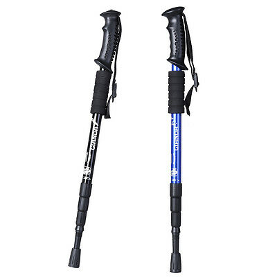 A Pair 2x Anti-Shock Trekking Walking Hiking Sticks Poles Alpenstock Adjustable