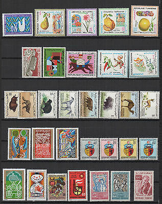 années 60/70 TUNISIE 32 timbres neuf /T510