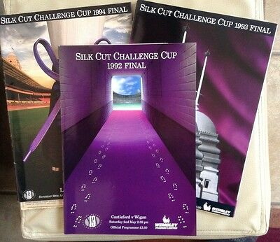 3 WIGAN Rugby League Challenge Cup Finals. 1992 - 1994.