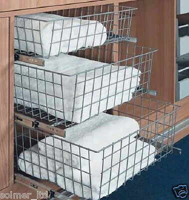 GTV Wardrobe Pull out Wire Baskets in sizes 400 500 and 600 Buy Now