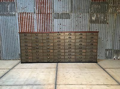 Antique apothecary bank of drawers Shop Counter Chest Of Drawers Haberdashery B