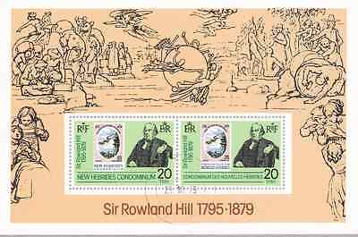 NEW HEBRIDES (Br) - 1979 - Miniature Sheet: Centen. Death Sir R Hill. Fine used
