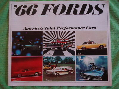1966 Ford Cars Brochure-America's Total Perfromance Cars