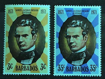 Barbados 1971. Death Centenary of S.J.Prescod. Set of 2. S.G.434-435. MH.