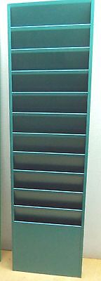 BUDDY PRODUCTS 11 POCKET  WALL  DISPLAY RACK  #812 in GREEN