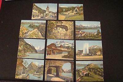 Vintage Mixed Lot of 11 Lurzen Switzerland Litho Set