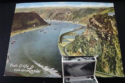 Vintage 1965 Loreley Postcard with 11 Fold Out Pictures