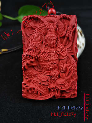 Chinese Fashion Cinnabar Dragon XiangYu Necklace Pendant Lucky Amulet Hot