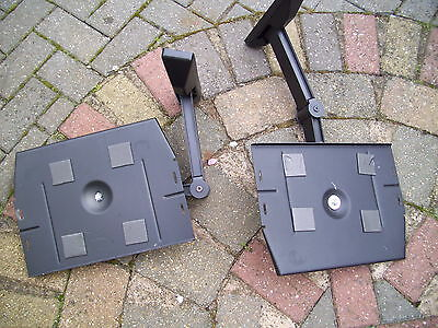 Pair of Heavy Duty Speaker Wall Brackets with screw covers