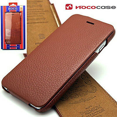 Genuine Top Layer Leather HOCO FLIP Case Cover For Apple iPhone 6 & 6S  BROWN