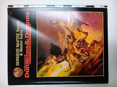 AD&D 2nd Ed Dungeon Master Reference & 2 Screens Advanced Dungeons & Dragons TSR