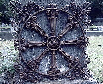 ARCHITECTURAL CAST IRON GRATE #3 Traditional French Starburst Garden Fence Gate