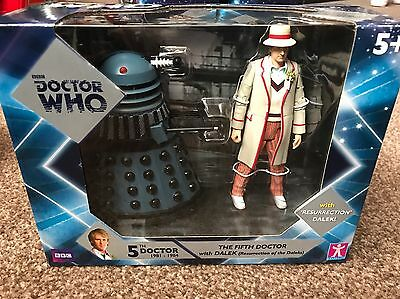 Doctor Who 5th Doctor with Dalek (Resurrection of the Daleks) New