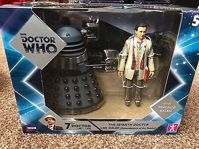 Doctor Who Seventh Doctor & Dalek (Remembrence Of The Daleks) New RARE
