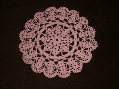 New Hand Crocheted Doily - orchid pink