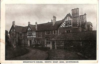 Postcard Greenway's House Chippenham Wiltshire