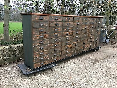Antique apothecary bank of drawers Shop Counter Chest Of Drawers Haberdashery A