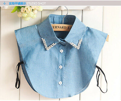 Fake collar Detachable Lapel Lace Hollow False Blouse Removable Accessories  xb
