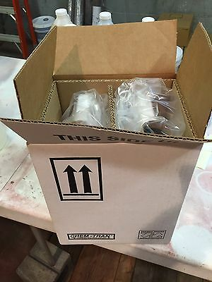 2 Each Gallon Plastic Bottle Jug NEW UNUSED with Shipping Box