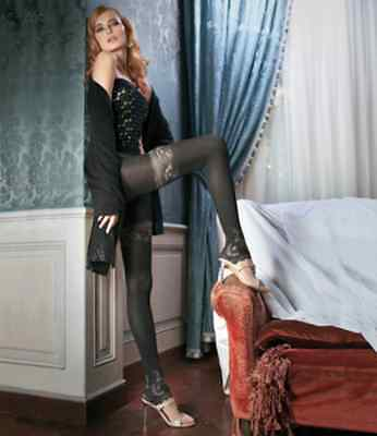 Trasparenze Riki tights black/cosmetic size 3 new, great for Christmas party