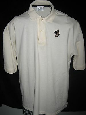 GERMAN SHEPHERD DOG - New Embroidered Unisex Golf Polo Shirt  - XL - Cream