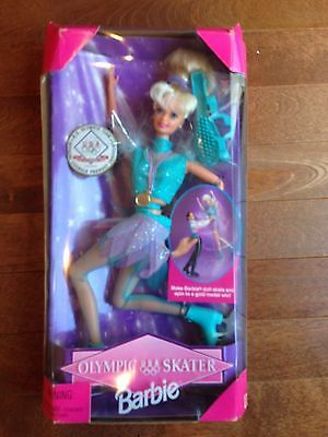 NIB Mattel 1997 USA Olympic Skater Barbie Collector Doll with accessories