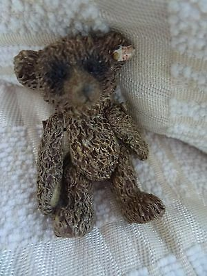 STEIFF PEWTER MINIATURE TEDDY BEAR - FROM THE 2ND SERIES 5cm.