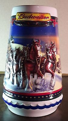 Budweiser Holiday Stein 2002 Guiding The Way Home