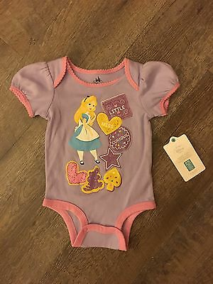 Disney Baby Girl Alice In Wonderland One Piece Outfit Size 6 - 12 Months New Nwt
