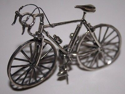 Sterling Silver (925) Miniature Bicycle
