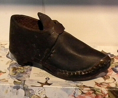 Antique Childs Clog, Leather/wood, North Country.