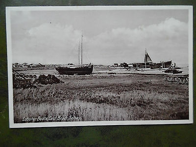 Old Selsey postcard East beach Lobster boats
